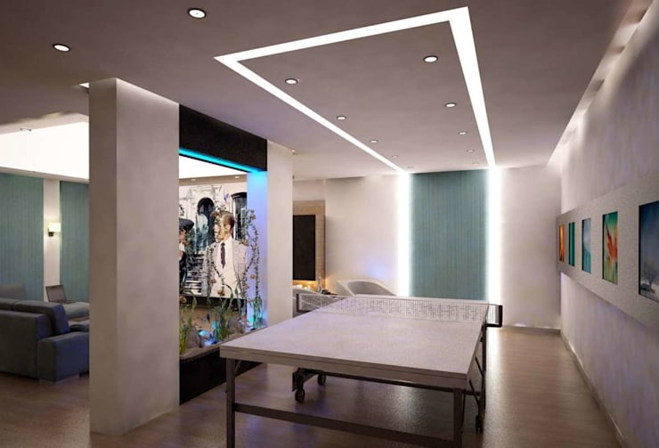 VERO CONCEPT MİMARLIK – İpek Gürel Villa:  tarz Multimedya Odası
