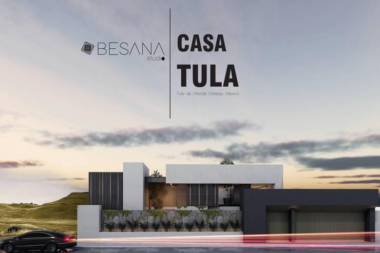 Casa Tula: Casas de estilo  por Besana Studio