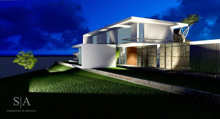 casa RR: Casas  por sandra almeida arquitectura e interiores