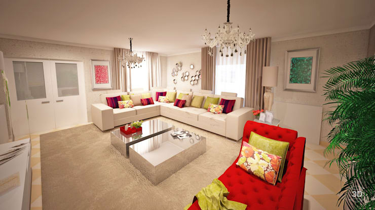 Salas de estilo moderno de GRAÇA Decoração de Interiores Moderno