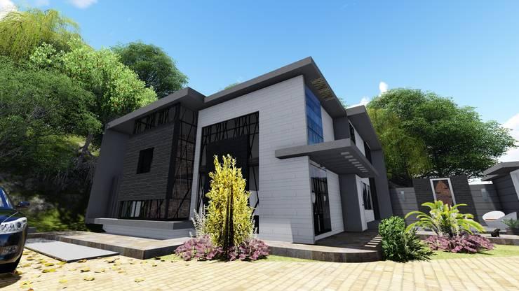 Casa La Ciudadela, Municipio Baruta. Caracas.: Casas de estilo moderno por Arquitectura Creativa