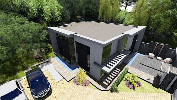 Vista general Proyecto Casa La Ciudadela : Casas de estilo  por Arquitectura Creativa