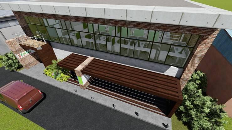 Galpón Industrial Laboratorio en Miami 06: Garajes y galpones de estilo  por Arquitectura Creativa