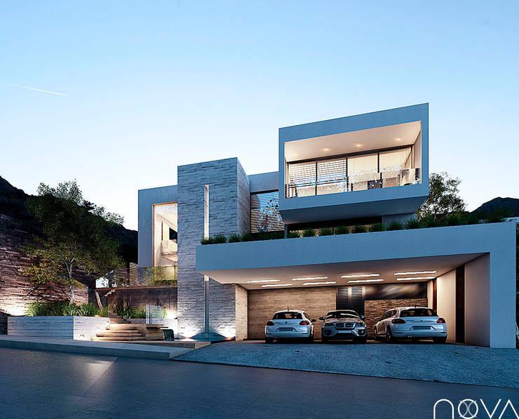 20 colores y combinaciones para pintar las fachadas de una for Fachadas de casas estilo moderno
