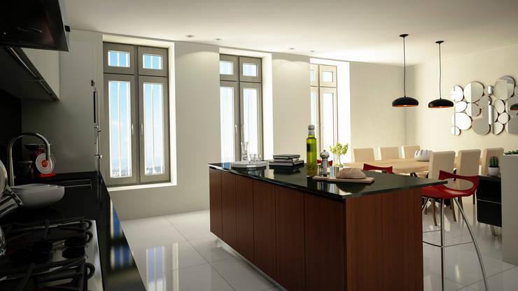 Cocina: Cocinas de estilo  por Citlali Villarreal Interiorismo & Diseño