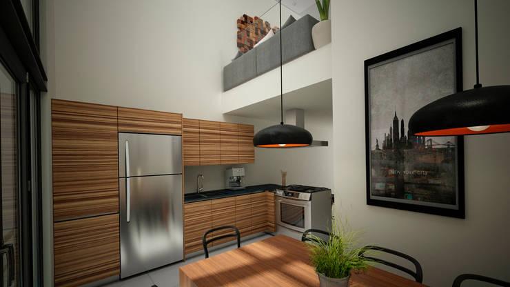 Departamento de la Ciudad de México ll: Cocinas de estilo  por Citlali Villarreal Interiorismo & Diseño