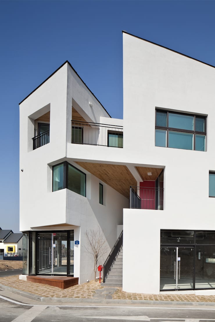 DOUBLE HOUSE: ON ARCHITECTURE INC.의  침실