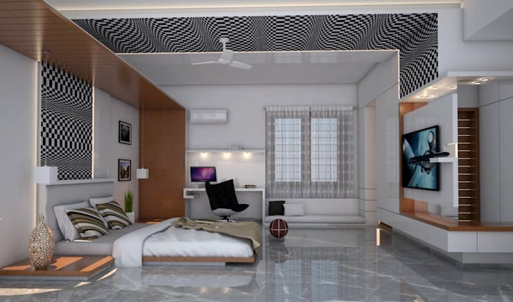residential project - Bangalore :  Bathroom by Studio Polygon
