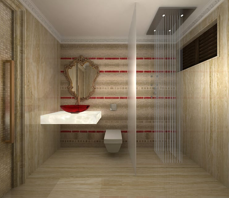RESIDENTIAL CLASSICAL INTERIORS:  Bathroom by De Panache  - Interior Architects