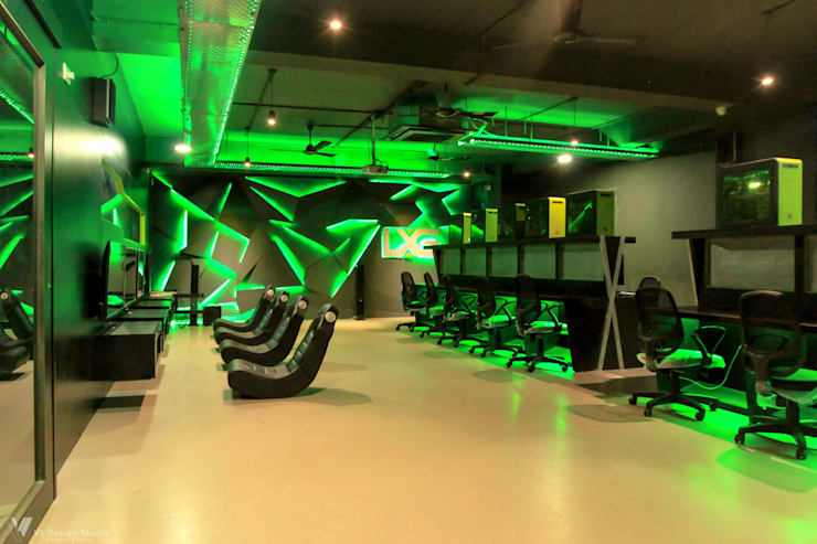 LXG—Gaming Arena:  Commercial Spaces by V5 Design Studio,Rustic MDF