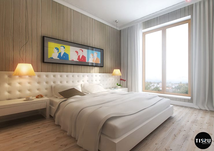 eclectic Bedroom by TISSU Architecture