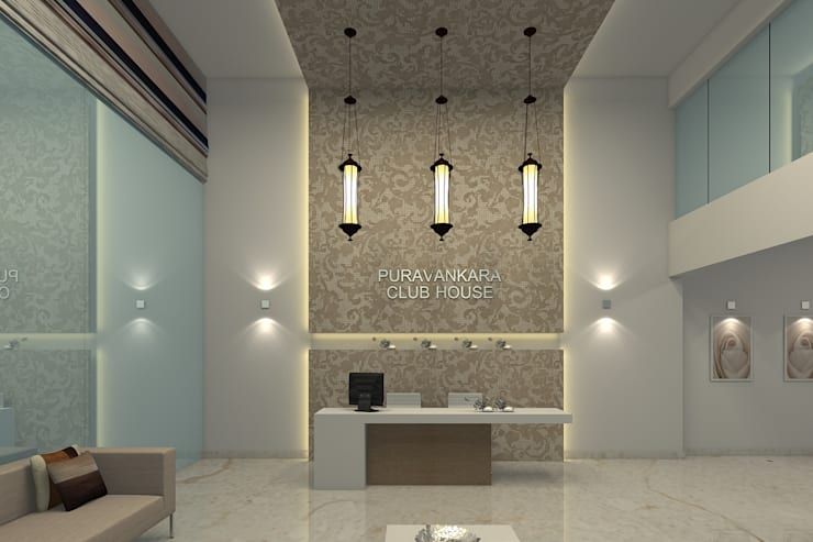 PURVANKARA, PURVA BLUEMONT CLUBHOUSE, COIMBATORE.:   by De Panache  - Interior Architects