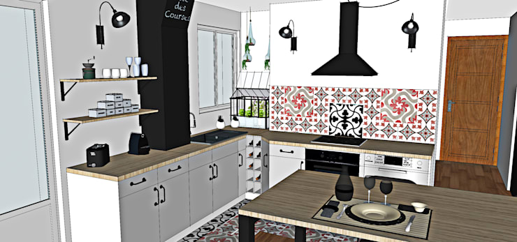 Cuisine Familiale Industriel Par Sb Design Concept Homify