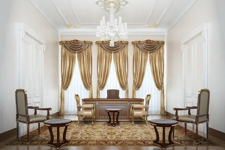 Derya Bilgen – Çalışma Odası:  tarz Çalışma Odası, Klasik Ahşap Ahşap rengi