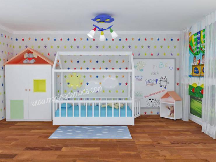 MOBİLYADA MODA  – Montessori'ye uygun Bebek Odası, Kuzey'in odası: modern tarz Çocuk Odası