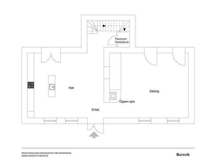 Il fascino dello stile nordico in una villa del '700:  in stile  di Design for Love