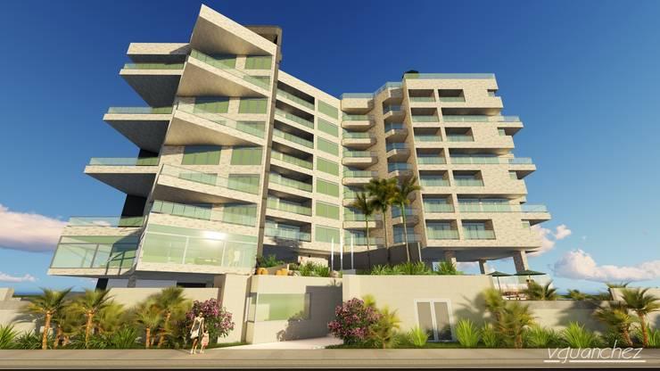 """Conjunto de Apartamentos """"Puerto Plata"""": Terrazas de estilo  por Grupo JOV Arquitectos"""