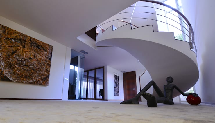 Lobby de Entrada - Casa das Artes by Musa Décor: Corredores e halls de entrada  por Musa Décor