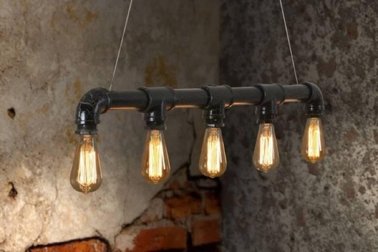 Vintage Edison Lamp:  Woonkamer door Loftlamp.nl