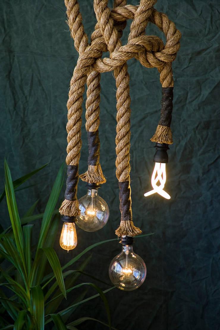 Touwlamp:  Woonkamer door Loftlamp.nl
