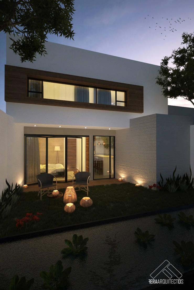 FACHADA POSTERIOR: Casas de estilo  por FERAARQUITECTOS