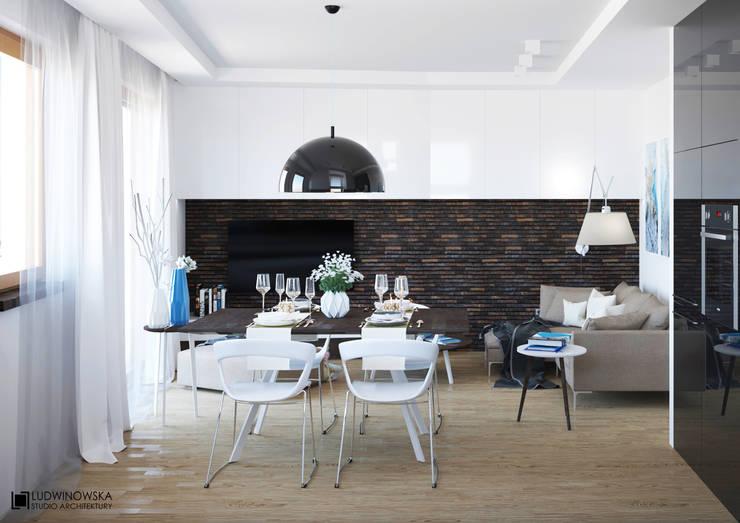 BLISKO NIEBA: styl , w kategorii Jadalnia zaprojektowany przez Ludwinowska Studio Architektury