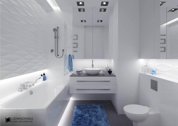 BLISKO NIEBA: styl , w kategorii Łazienka zaprojektowany przez Ludwinowska Studio Architektury