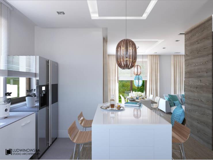 TURQUISE: styl , w kategorii Kuchnia zaprojektowany przez Ludwinowska Studio Architektury