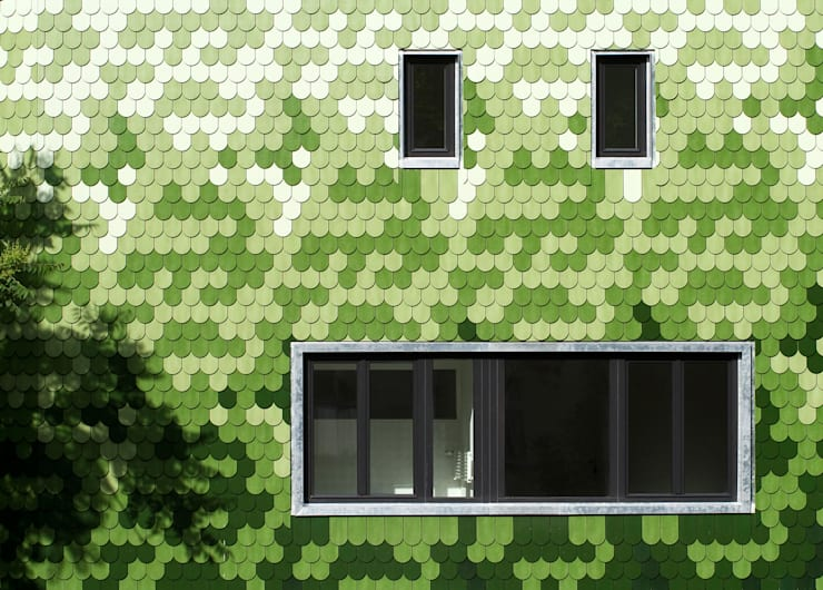 tile facade:  Houses by brandt+simon architekten