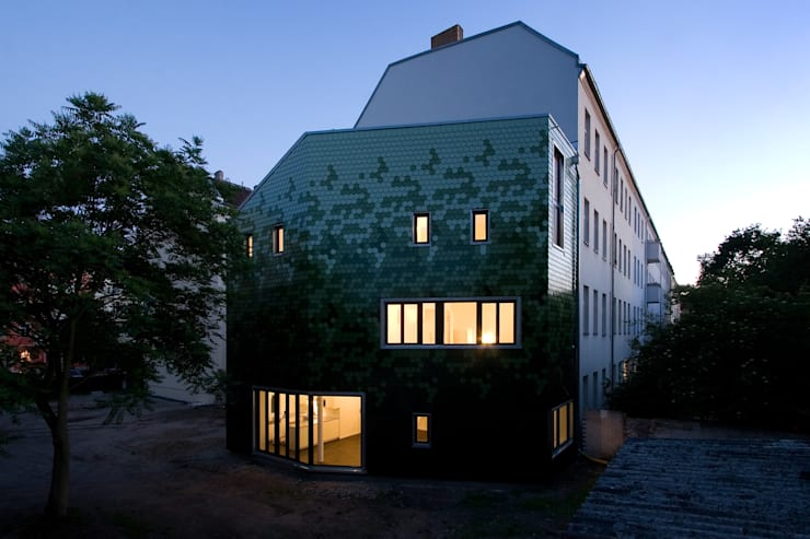 evening impression:  Houses by brandt+simon architekten