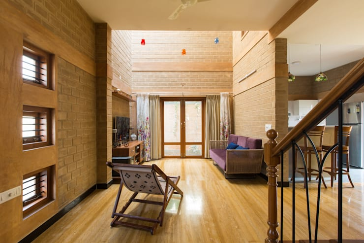 Salas / recibidores de estilo  por A3 Ateliê Academia de Arquitectura