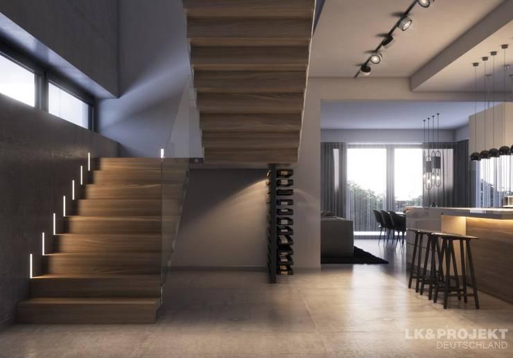 Couloir et hall d'entrée de style  par LK&Projekt GmbH