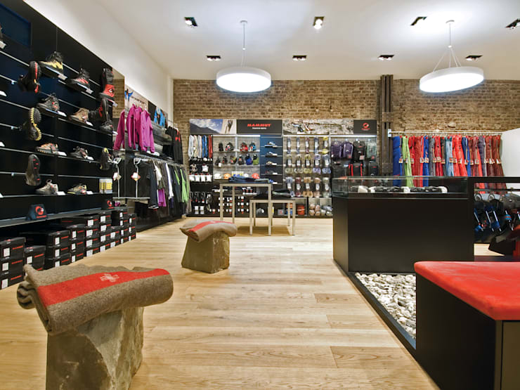 mammut sports group store concept by inpuls homify. Black Bedroom Furniture Sets. Home Design Ideas