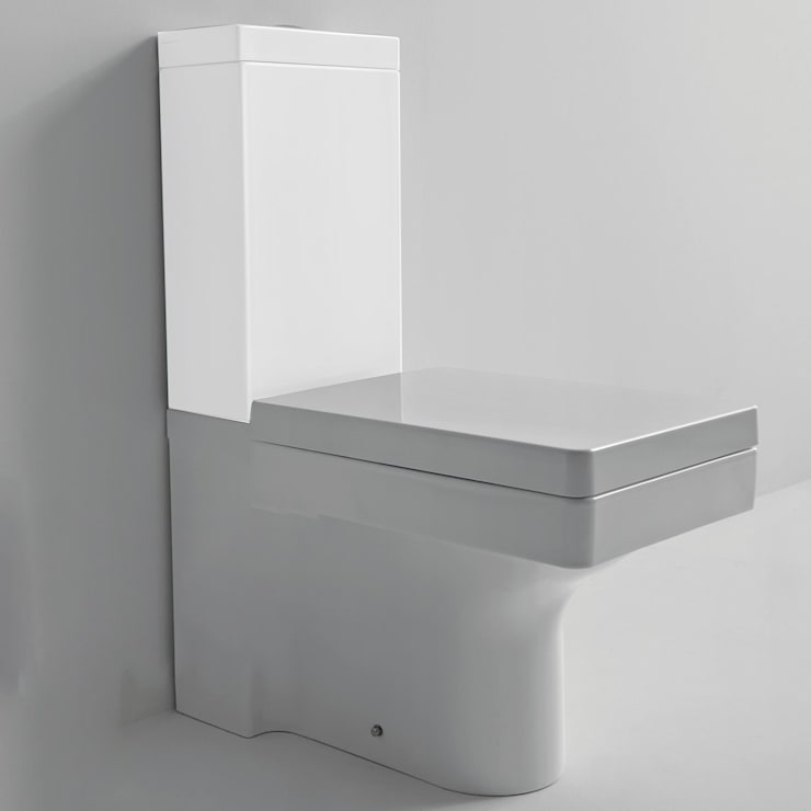 Kerasan Cento Stand-WC für Kombination eckig, weiß von EIKORA ...