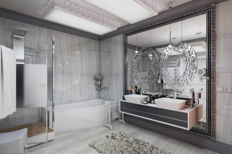 Дом в стиле фьюжн: Ванные комнаты в . Автор – D-SAV     ДИЗАЙН ИНТЕРЬЕРА И АРХИТЕКТУРА