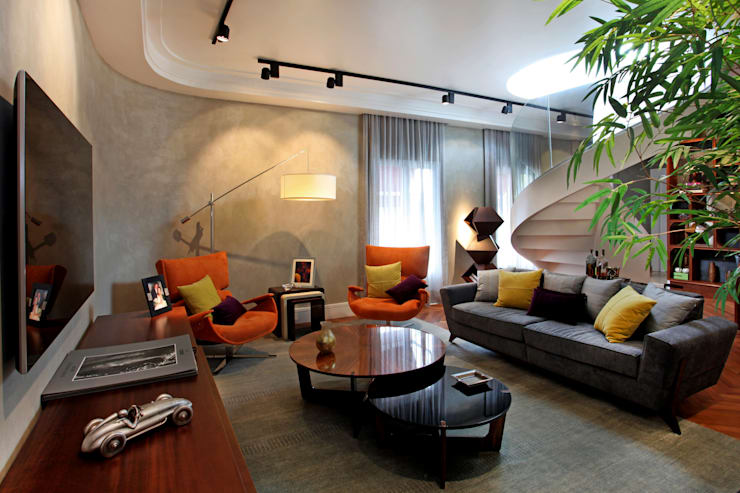 Salas / recibidores de estilo moderno por Célia Orlandi por Ato em Arte
