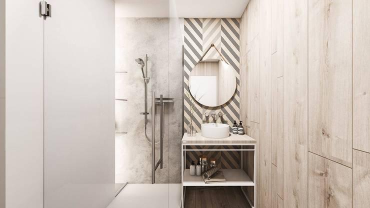 Mieszkanie Sosnowiec: styl , w kategorii Łazienka zaprojektowany przez FOORMA Pracownia Architektury Wnętrz