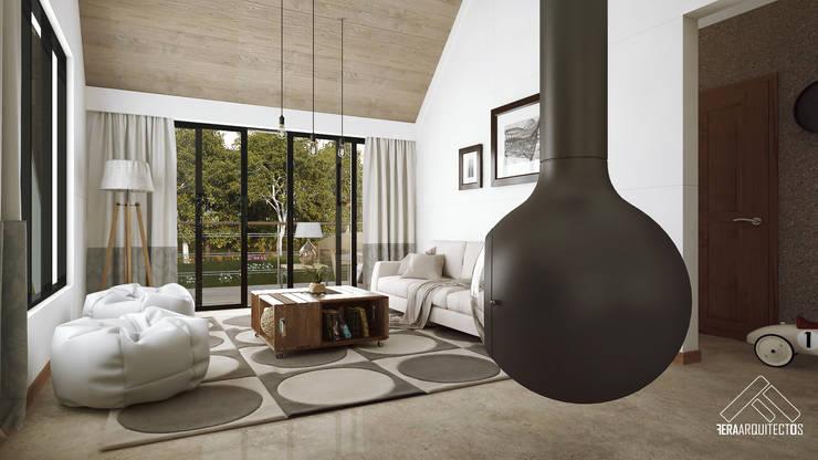 Living room by FERAARQUITECTOS, Scandinavian