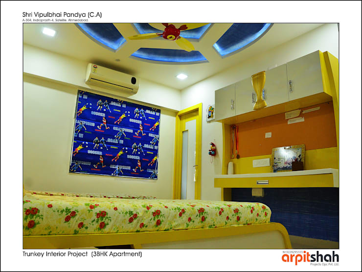 Vipul Pandya @ Indraprasth—4, Prahladnagar:   by ARPIT SHAH PROJECTS OPC PVT LTD.