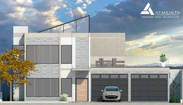 Fachada Norte: Casas de estilo moderno por Atahualpa 3D