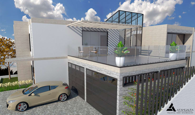 Render Vista terraza: Terrazas de estilo  por Atahualpa 3D