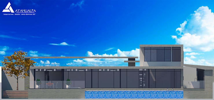 Fachada Norte: Casas de estilo  por Atahualpa 3D