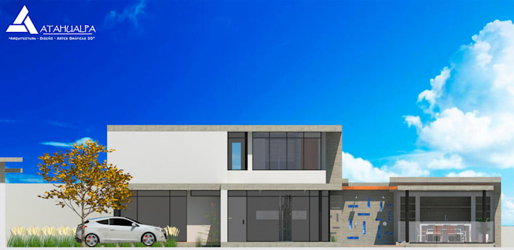 Fachada Este: Casas de estilo  por Atahualpa 3D