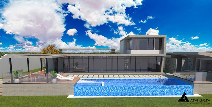 Render Vista Principal: Casas de estilo  por Atahualpa 3D