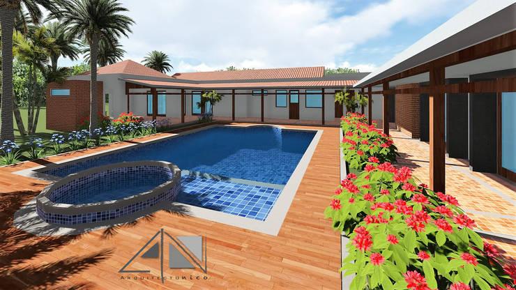 Casa GMA . piscina:  de estilo  por ARQUITECTOnico