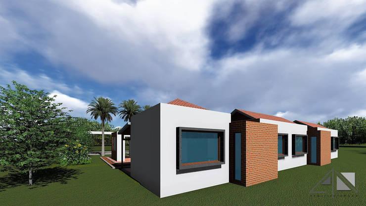 Casa GMA - Fachada posterior.:  de estilo  por ARQUITECTOnico