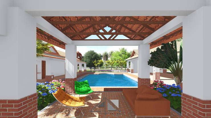 Casa RG - sala exterior:  de estilo  por ARQUITECTOnico