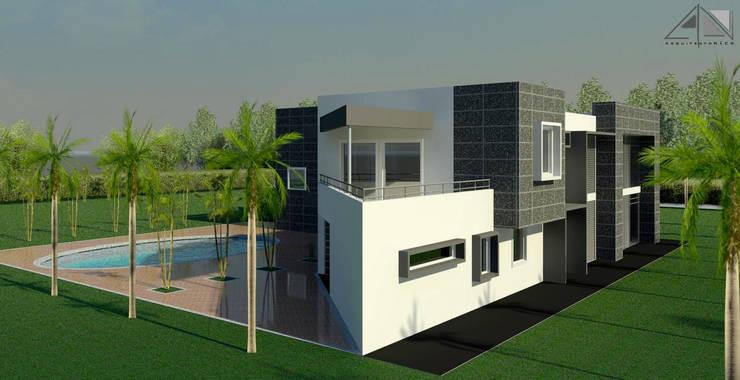 Casa  B&G:  de estilo  por ARQUITECTOnico