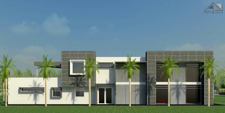 Casa  B&G - fachada principal:  de estilo  por ARQUITECTOnico
