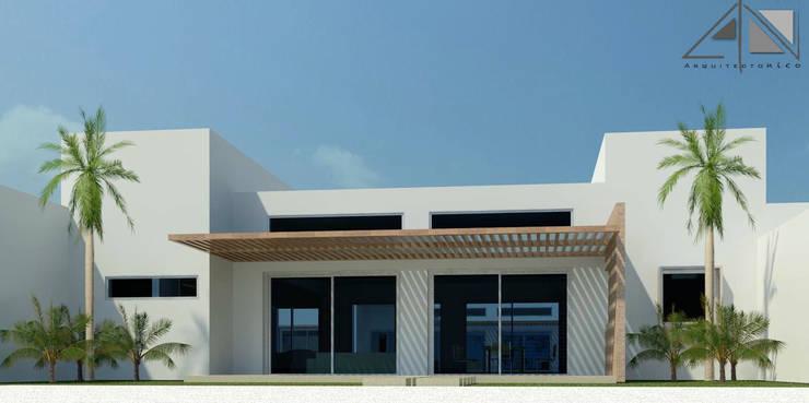 Casa Minimalista:  de estilo  por ARQUITECTOnico